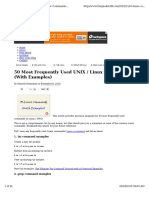 Basic-linux-commands 50 Most Frequency Used