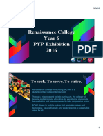 year 6 pyp exhibition information session for parents 2015-16