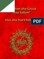 Babylon the Great has fallen! Has she hurt herself?