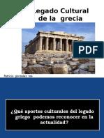 Legadoculturaldelagreciaclsica PATRICIO GONZALEZ