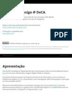 Type Design @ DeCA