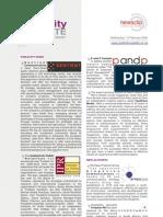 PUBLICITY UPDATE - 13 February 2008