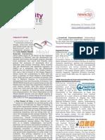 PUBLICITY UPDATE - 20 February 2008