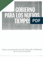 Bases Programáticas Del Gobierno de Eduardo Frei Ruiz Tagle