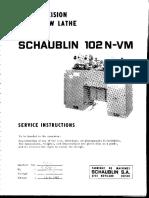Schaublin 102N-VM Manual