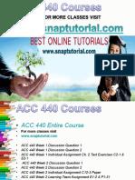 ACC 440 Academic Success/snaptutorial