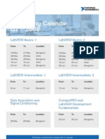 NI Training Calendar 08
