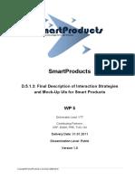SmartProducts -Interaction Strategies