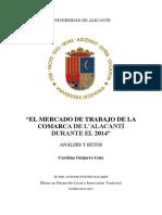El Mercado de Trabajo de La Comarca de l'Alacantí Durante El 2014