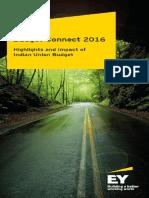 Union Budget 2016 Highlights & Impact – EY India