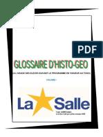 Glossaire d'Histoire Et Geographie