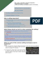Editing Techniques Worksheet