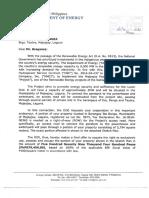 Letter Dated Feb. 11, 2016 (DOE)