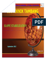 12 Mine-Geotechnical Slope Stabilization