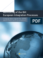 "Comparative Report for 2010 under the Project ""Monitoring of the BiH European Integration Processes"""