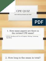 CPE Test Quiz