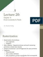 Lecture20 - Rasterization.pdf