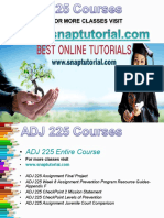 ADJ 225 Academic Success/snaptutorial
