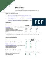 Compare Gmail Editions Free & Berbayar