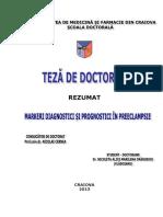 Markeri Diagnostici Si Prognostici in Preeclampsie