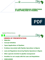 O&G Pipeline Systems Laws and Regulations Nigeria