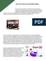 Teknik Menyeleksi Alat Pel Lantai serta Membersihkan Lantai