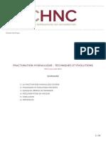 Dossier Technique Du CHNC Fracturation Hydraulique Techniques Et Evolutions