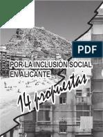 14 Propuestas Inclusión social de Alicante.