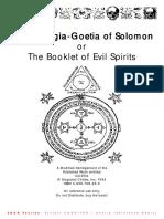 The Lesser Key Of Solomon Theurgia Goetia