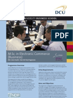 DCU MSc in Electronic Commerce Factsheet