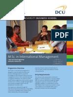 DCU MSc in International Management Factsheet