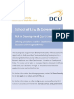 MA in Development Part Time Information