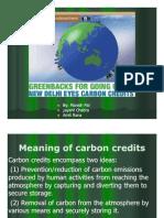 Afm Presentation on Carbon Credits