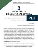 AGGIO, J. (2009). Percepcao e Conhecimento Segundo Aristoteles, Platao e Protagoras