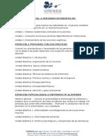 Objetivos y Contenidos de Cursos