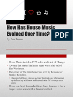 Sam Towner House Music Evolution