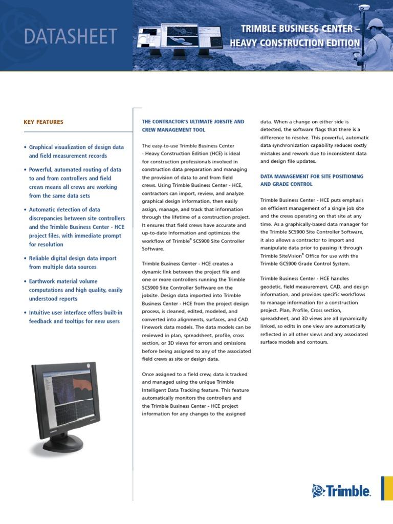 Trimble Business Center - Heavy Construction Edition   3 D Computer