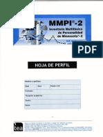 298729971 MMPI 2 Hoja de Perfil y Puntuaciones Tipicas