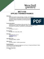 Winter2015 - MCT 4150 - Applyed Thermodynamics