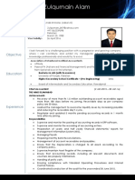 CV Document - ACCA Qaulified