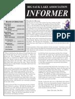 Big Sauk Lake Association Informer
