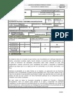 Plan de Asignatura, Filosofía Política 2016-1