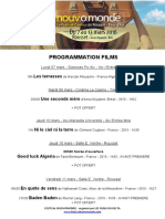 Programmation Films Nouvomonde