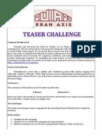 UA Teaser Challenge