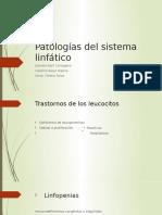 Patologías del sistema linfático