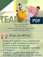 Major Final Output (MFO)_CIU