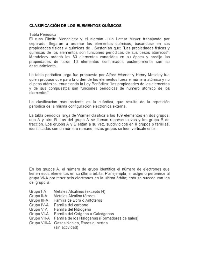 Clasificacion de la tabla periodica urtaz Image collections