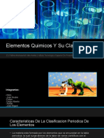 Elementos Quimicos Y Su Clasificacion