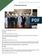 Nhật Ký Lý Bằng Viết Về Hội Nghị Thành Đô