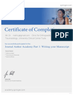 13-11-2014 - Journal Author Academy Part 1- Writing Your Manuscript - Certificate